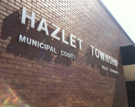 Photograph of the sign for Hazlet Municipal Court