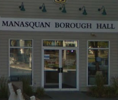 Photograph of front of Manaquan Borough Hal