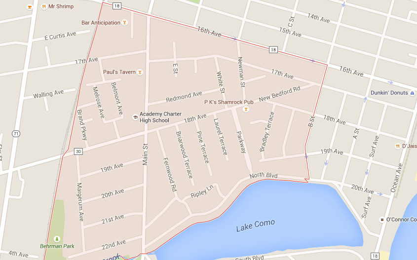 Google map of Borough of Lake Como