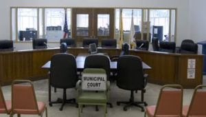 Photograph of the courtroom in Atlantic Highlands