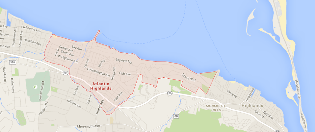 Google Map Snapshot of the Borough of Atlantic Highlands