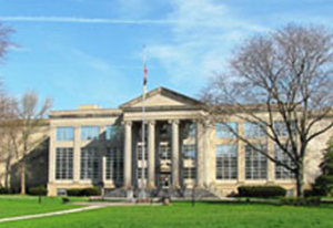 Picture of the Monmouth County Courthouse from Monument Park, Freehold NJ