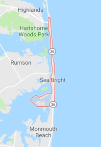 The police in Sea Bright New Jersey issue charges for DWI, driving under the influence of drugs and breath test refusal.